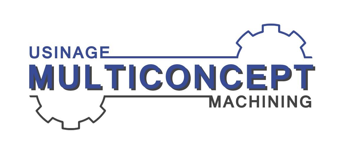 Le logo d'Usinage Multiconcept qui est l'ancien nom de Précision IMS. Fabrication de moules et pièces mécaniques.