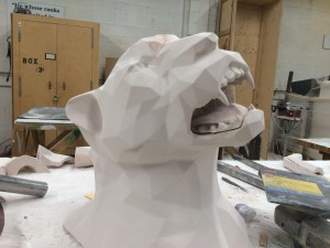 The finished design waiting to be coated and painted.