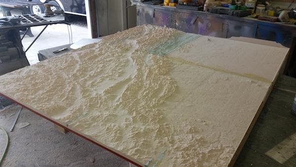 interactive topographic map Precision Board