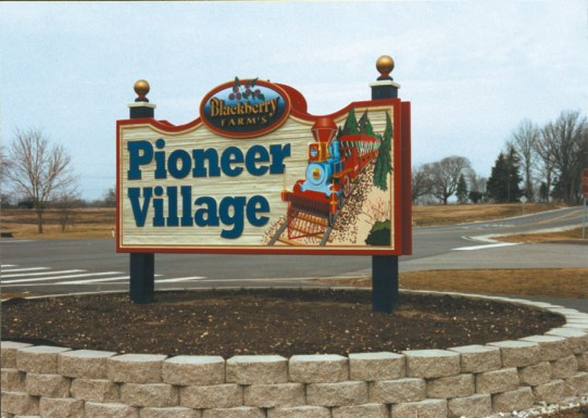Kevin Pirok's Pioneer Village sign