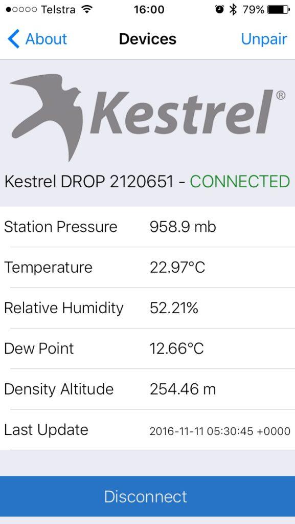 Kestrel Drop Ballistics/Ballistic AE installation 10 Success