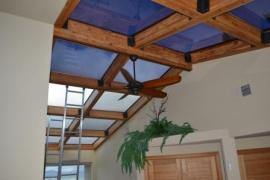 Window tinting skylights in the house we did in Evergreen Colorado.