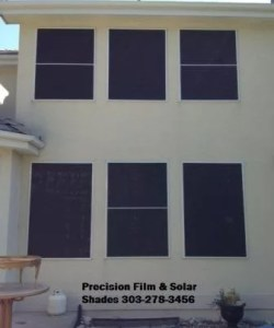 Showing some solar window screens we installed in the Denver area.