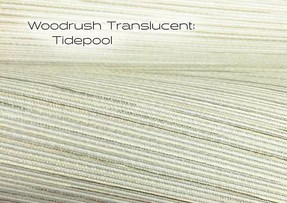 Woodrush Translucent Tidepool window shade fabric