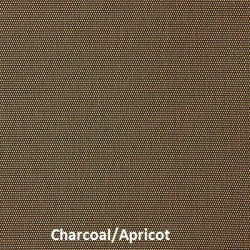 This picture shows one of the fabric colors for our M Screen series which is Charcoal/Apricot sun solar shade fabric.