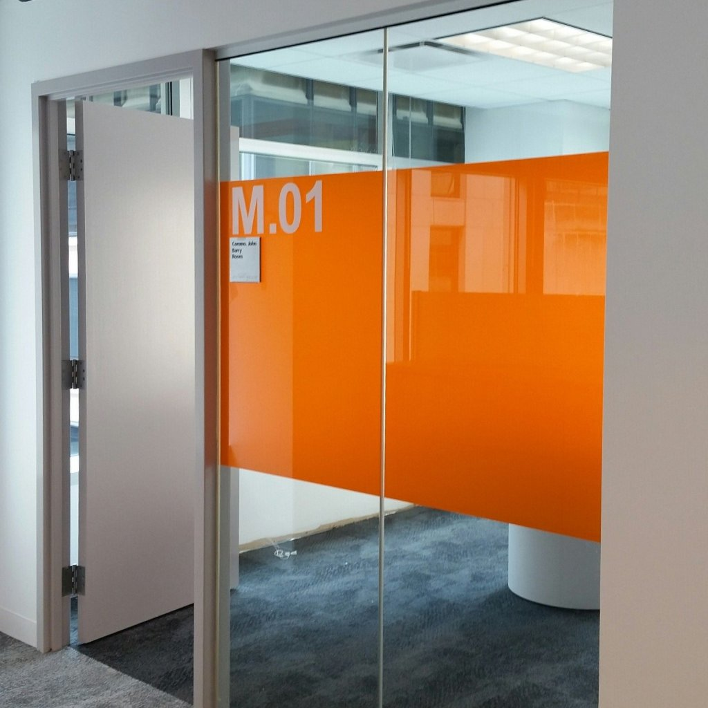 Interesting Decorative Glass Film Job Adds New Flair to Office Space 4