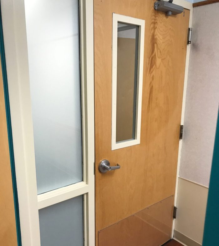 Hospital Adds White Frost Decorative Glass Film for Privacy