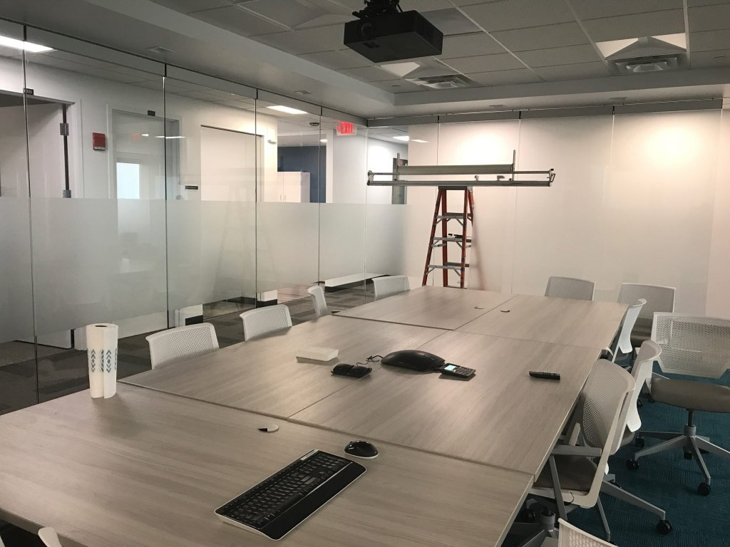 Add Privacy & Branding to Offices with Frosted Glass Films 2