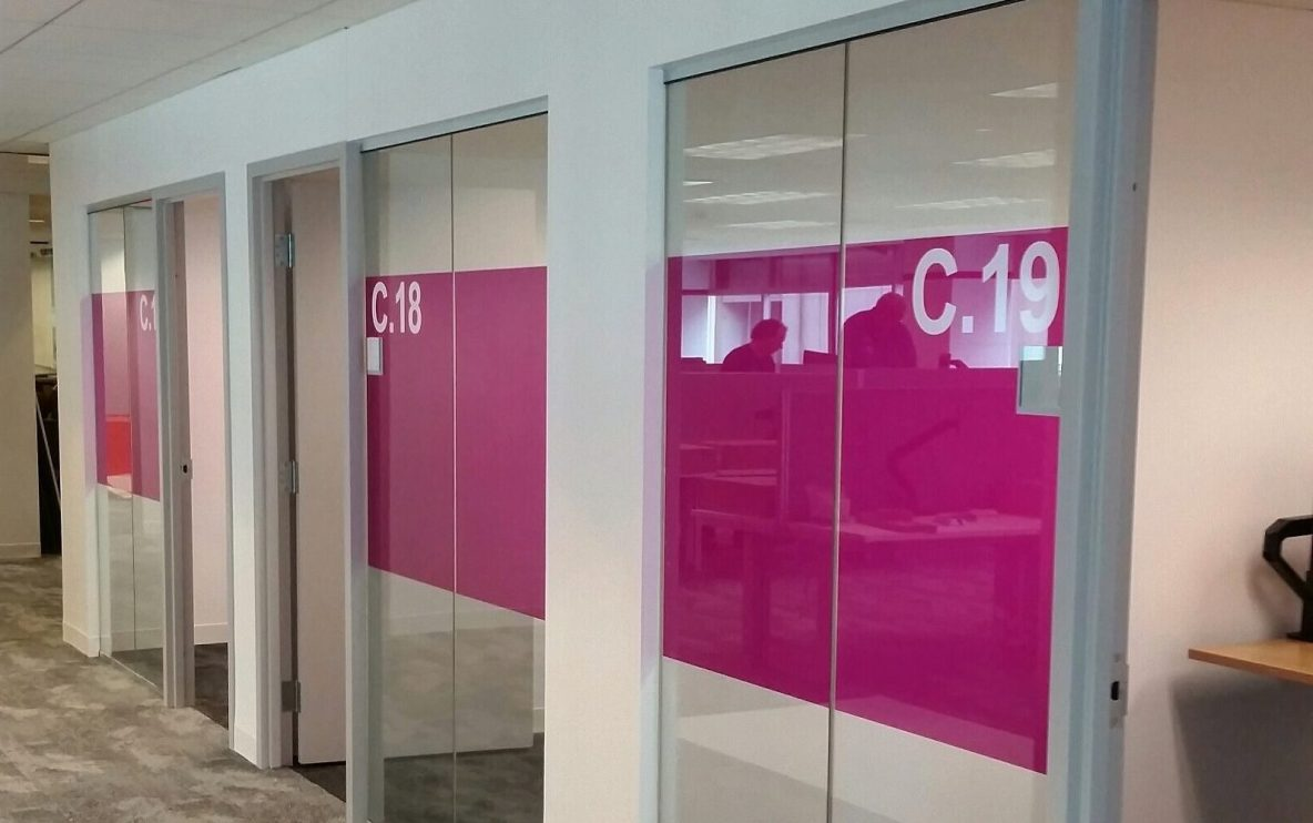 Interesting Decorative Glass Films Job Adds New Flair to Office Space -Transform Philadelphia Area Glass Panels by Retrofitting Decorative Window Films - Decorative Glass Film in Philadelphia. PA