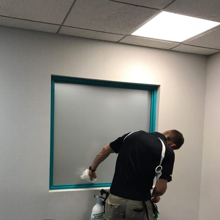 Hospital Adds White Frost Decorative Glass Film for Privacy 2
