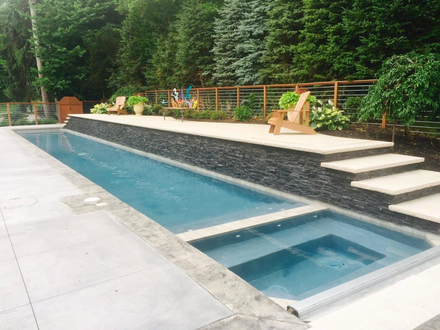 inground lap pool, gunite, Precision Pool and Spa, Rochester, NY