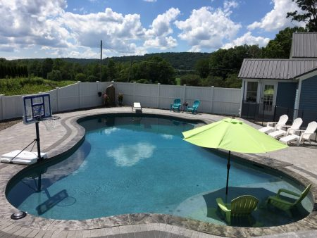 diving board, sun ledge, beach entry, design pool, pool installation, Syracuse NY, Upstate NY