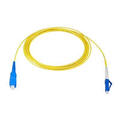 - LC to SC 1M Singlemode Simplex Fiber Optic Cable 9//125