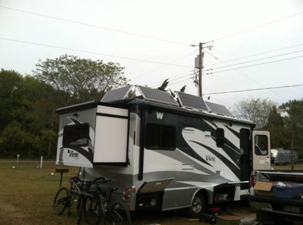 Solar power panels for Winnebago View