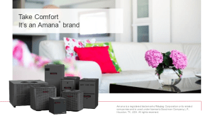 San Diego Heating and Air We Carry Amana Air Conditioners