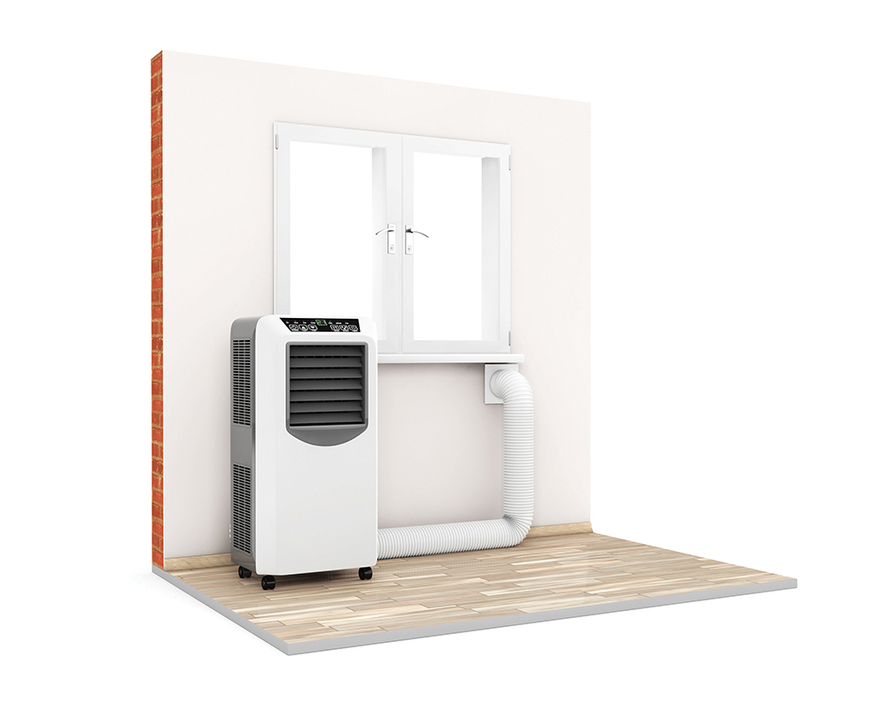 Portable air conditioner difference between heating and cooling systems