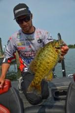 Brandon Palaniuk has caught his big ones from the same spot