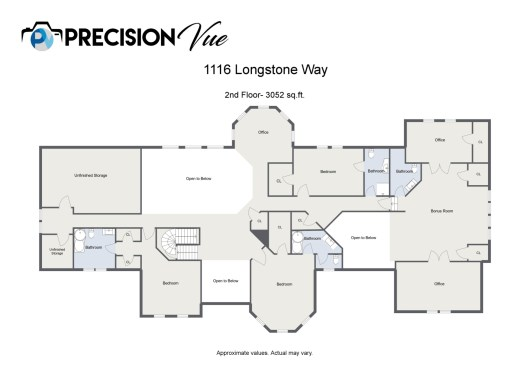 Floorplan letterhead - 1116 Longstone Way - 2nd Floor- 3052 sq.ft. - 2D Floor Plan-2