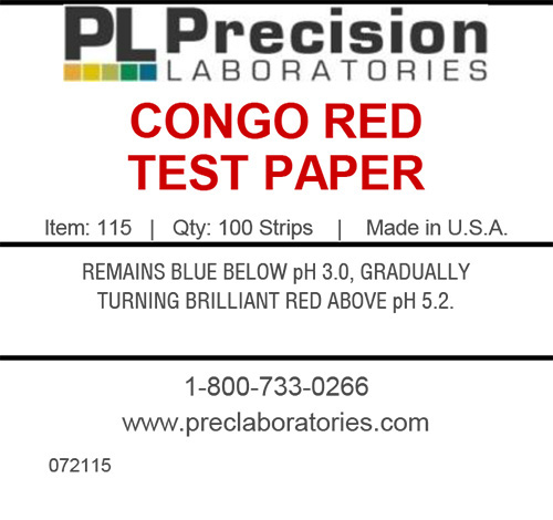 Congo Red Test Paper, congo red, congo red test papers, pH test paper