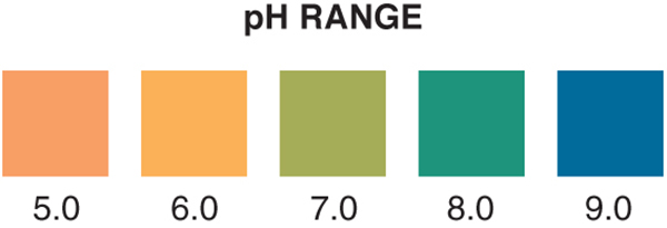 pH 5-9 test strip, pH 5-9, pH test strip