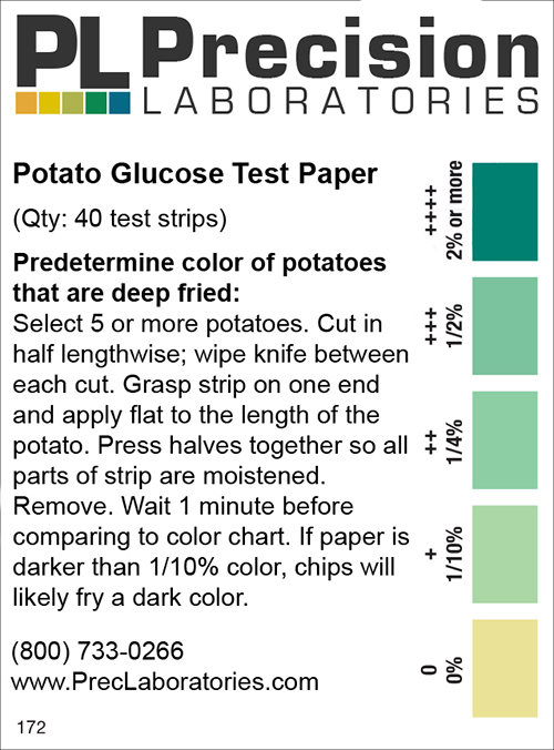 Potato Test Strip, sugar detection in potatoes, glucose, potato test paper