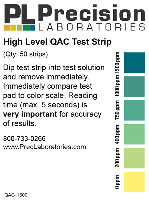 high level qac test strip, high level qac, qac, qac test strip, qac test strips, high level qac test strips, qac qr test strip, qac test strip