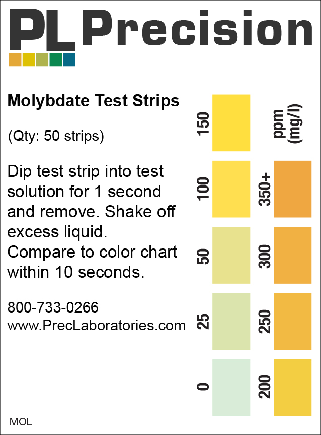 molybdate test strip, molybdate