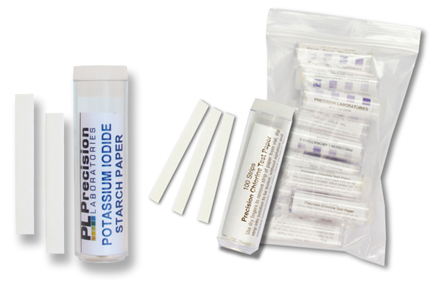 potassium iodide starch use, potassium iodide starch paper, chlorine test paper, sanitizing solutions, disinfecting solutions, bleach solutions