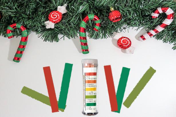 holiday pH paper test, universal pH paper, pH test paper, pH