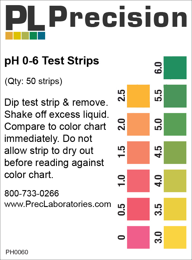pH 0-6 test strips, test strips, pH test strips, pH