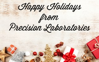 happy holidays from precision laboratories