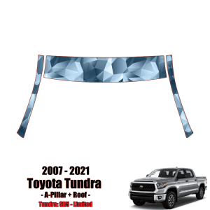 2007 – 2021 Toyota Tundra – Precut Paint Protection Kit (PPF) A-Pillars + Roof Top
