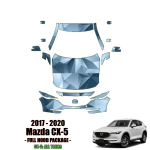 2017 – 2020 Mazda CX-5 – Precut Paint Protection Kit (PPF) Partial Front + Full Hood