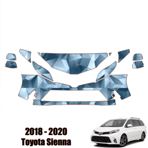 2018 – 2020 Toyota Sienna – Precut Paint Protection Kit (PPF) Partial Front