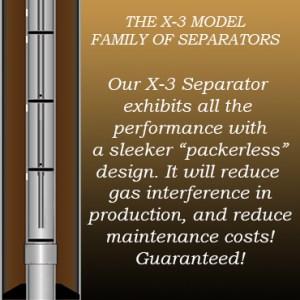 New X-3 Model - Family of Separators