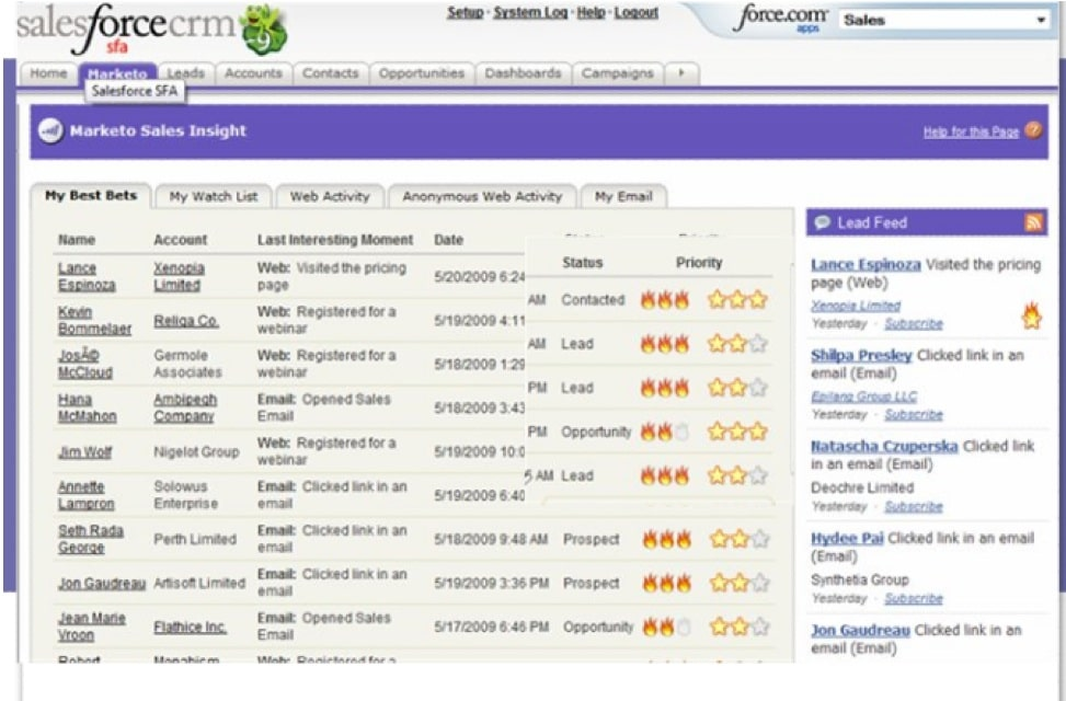 marketo SFDC screenshot  color