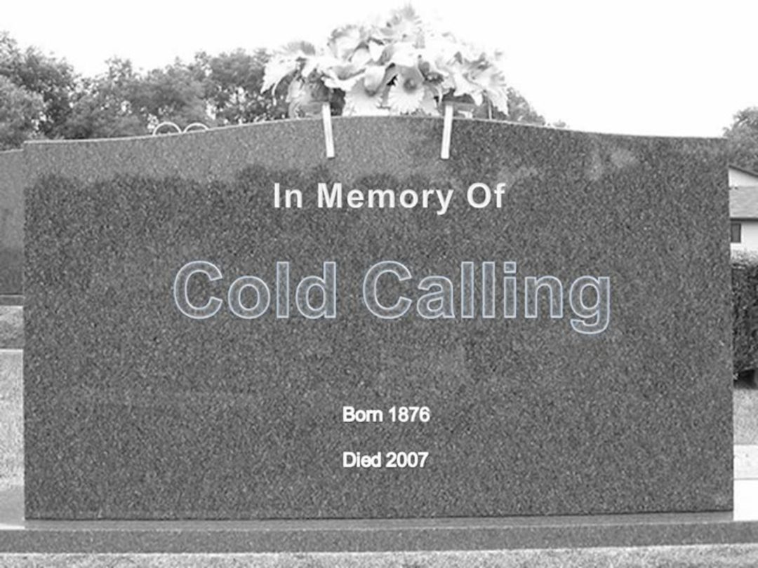 RIP cold calling tombstone picture