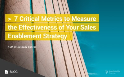 7 Critical Metrics to Measure the Effectiveness of Your Sales Enablement Strategy