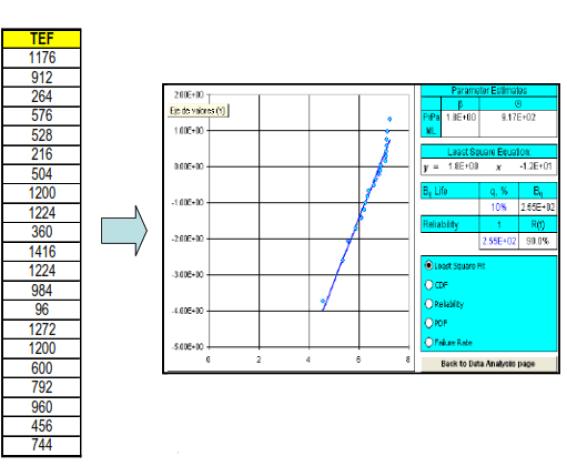 Figura 4. Caracterización Probabilistica con el software RARE