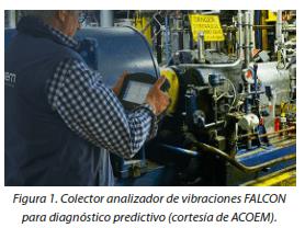 Figura 1. Colector analizador de vibraciones FALCON para diagnóstico predictivo (cortesia de ACOEM).