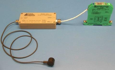 Ilustración 30. Sensor, transmisor y barrera de un lazo de monitorización