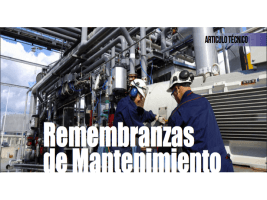 Remembranzas de Mantenimiento
