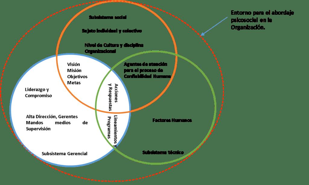 Figura 2. Abordaje psicosocial en un sistema sociotécnico.