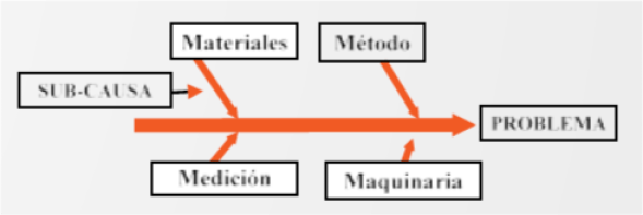 Figura 2. Diagrama gráfico de Causa – Efecto.