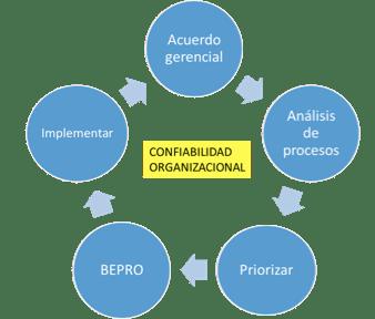 Figura 1. Pasos en la Implementación de BEPRO.