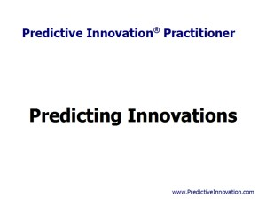 Predicting Innovations