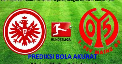 Prediksi Skor Mainz 05 vs Eintracht Frankfurt 28 Oktober 2017