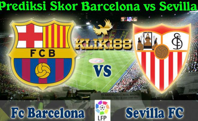 Prediksi Skor Barcelona vs Sevilla 5 November 2017