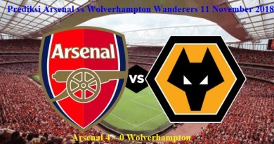 Prediksi Arsenal vs Wolverhampton Wanderers 11 November 2018