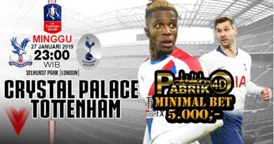 Prediksi Crystal Palace vs Tottenham 27 Januari 2019